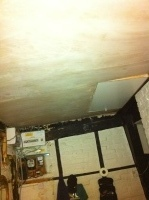 New ceiling covering in kitchen