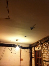 Lights in bathroom ceiling