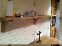 Kitchen shelf above table